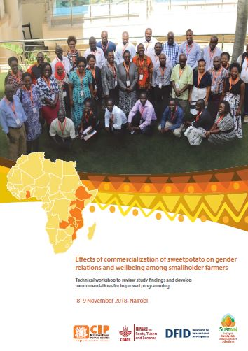 Effects of commercialization of sweetpotato on gender relations and wellbeing among smallholder farmers: Technical workshop to review study findings and develop recommendations for improved programming.