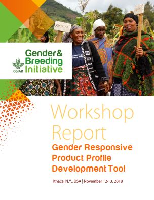 Gender-Responsive product profile development tool.  Workshop Report. November 12-13. Ithaca, USA