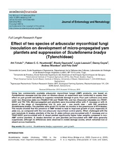 Effect of two species of arbuscular mycorrhizal fungi inoculation on development of micro-propagated yam plantlets and suppression of Scutellonema bradys (Tylenchideae)