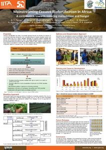 Mainstreaming cassava biofortification in Africa: a contribution towards reducing malnutrition and hunger