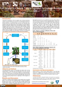 Trait variation in a banana training population for genomic selection.