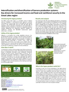 Intensification and diversification of banana production systems: key drivers for increased income and food and nutritional security in the Great Lakes region