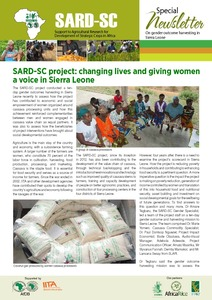 Support to Agricultural Research for Development of Strategic Crops in Africa project: changing lives and giving women a voice in Sierra Leone
