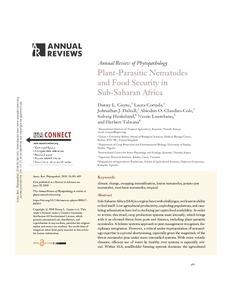 Plant-parasitic nematodes and food security in sub-saharan Africa