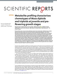 Metabolite profiling characterises chemotypes of Musa diploids and triploids at juvenile and preflowering growth stages