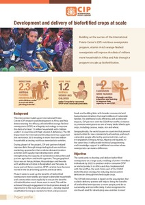 Development and delivery of biofortified crops at scale. Project profile.