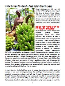 Defying the odds: the story of a female matooke trader in Uganda.