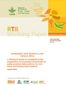Sweetpotato seed systems in sub-saharan Africa: A literature review to contribute to the preparation of conceptual frameworks to guide practical interventions for root, tuber and banana seed systems.