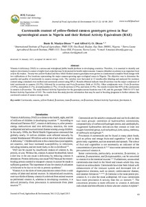 Carotenoids content of yellow-fleshed cassava genotypes grown in four agroecological zones in Nigeria and their Retinol Activity Equivalents (RAE)