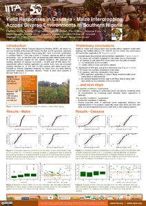 Yield responses in cassava - maize intercropping across diverse environments in Southern Nigeria
