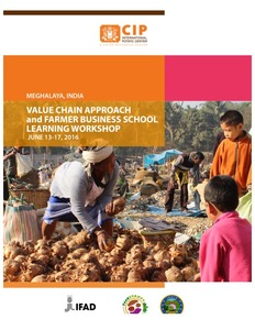 Value chain approach and farmer business school learning workshop.