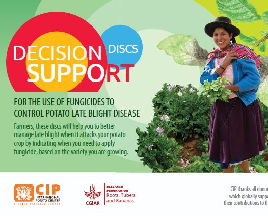 Decision support discs for the use of fungicides to control potato late blight disease