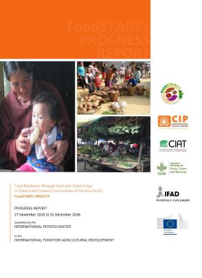 Food Resilience Through Root and Tuber Crops in Upland and Coastal Communities of the Asia-Pacific (FoodSTART+). Progress Report 27 November 2015 to 31 December 2016