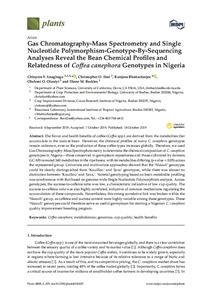 Gas chromatography-mass spectrometry and single nucleotide polymorphism genotype by sequencing analyses reveal the bean chemical profiles and relatedness of Coffea canephora genotypes in Nigeria
