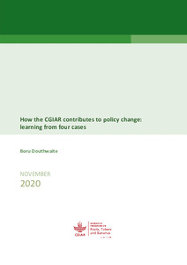 How the CGIAR contributes to policy change: learning from four cases